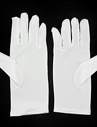 До запястья С открытыми подушечками пальцев Перчатка Эластичный сатин Детские нарядные перчатки Все сезоны Плиссировка