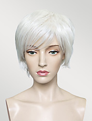 Synthetic Wigs White Color Hair Wig Short BOB Straight Natural Wig For Women Costume Wig