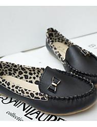 Недорогие -Жен. Обувь Оксфорд / Полиуретан Весна Удобная обувь На плокой подошве Белый / Черный / Желтый