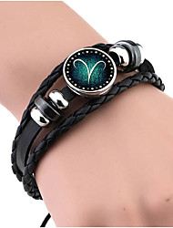 cheap -Men's Women's Leather Bracelet Vintage Leather Geometric Jewelry Gift