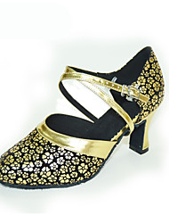 Damen Modern Kunstleder Sandalen Sneaker Professionell Stöckelabsatz Gold Silber Rot Maßfertigung