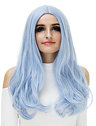 cheap -Synthetic Hair Wigs Natural Wave Carnival Wig Halloween Wig Party Wig Natural Wigs Grey Blue Rose/Green Silver Purple Gold Pink