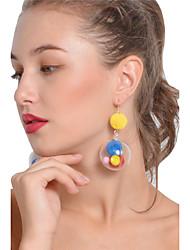 abordables -Femme Adorable Balle Boucles d'oreille goutte / Boucles d'oreille gitane - Personnalisé / Sexy / Mode Arc-en-ciel Des boucles d'oreilles
