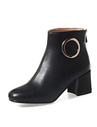 cheap -Women's Boots Fashion Boots Combat Boots Leatherette Fall Winter Casual Office & Career Dress Chunky Heel Dark Brown Almond Gray Black