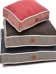 cheap -Dog Bed Pet Mats & Pads Stripe Soft Washable Coffee Red Blue For Pets