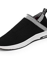 cheap -Men's Sneakers Light Soles Spring Fall Knit Walking Shoes Casual Outdoor Flat Heel Black Beige Gray Flat