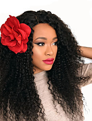 cheap -HOT 8A Mongolian Virgin Hair Kinky Curly Glueless Lace Front Human Hair Wigs For Black Women 8-26inch Unprocessed Full Lace Wigs With Baby Hair