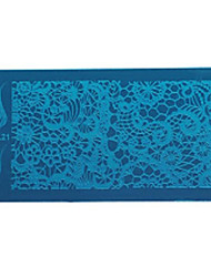 Nail Tools Printing Template Blue Film Printing Plate / Geometric Lace Animal Flowers Pattern