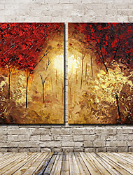 Large Hand-Painted Modern Landscape Tree Oil Painting On Canvas One Panel With Frame Ready To Hang