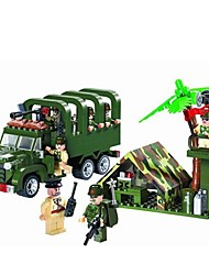 cheap -ENLIGHTEN Toy Car / Building Blocks / Block Minifigures 308 pcs Military / Car Fun & Whimsical Boys' Gift
