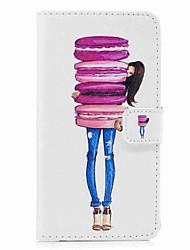 Недорогие -Кейс для Назначение SSamsung Galaxy S8 Plus S8 Бумажник для карт Кошелек со стендом Флип С узором Чехол Продукты питания Твердый Кожа PU