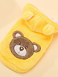 Dog Costume Dog Clothes Cosplay Bear Yellow