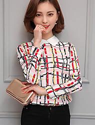 cheap -Women's Shirt - Striped Shirt Collar