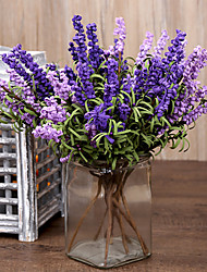 8 Heads/Branch The Curly Grass Pastoralism PE Lavender Artificial Flowers