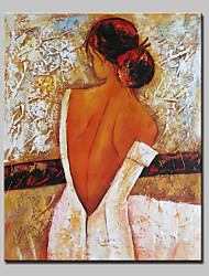cheap -Hand-Painted People Vertical, Abstract Modern Canvas Oil Painting Home Decoration One Panel