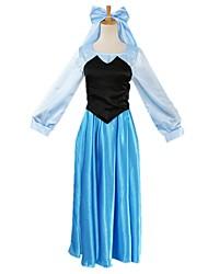 economico -Da principessa Fiabe Elsa Un Pezzo Vestiti Donna Unisex Halloween Carnevale Feste / vacanze Costumi Halloween Blu Vintage