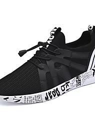 abordables -Homme Chaussures Tulle Printemps Automne Confort Chaussures d'Athlétisme Marche Lacet pour Athlétique Gris Noir et Or Noir/blanc
