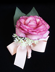 Wedding Flowers Grace Roses Boutonnieres Wedding / Special Occasion Satin / Fabric Corsage for The Bridegroom 1 Piece