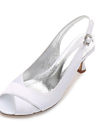 cheap -Women's Wedding Shoes Comfort Basic Pump Spring Summer Satin Wedding Dress Party & Evening Rhinestone Sparkling Glitter Split Joint Low
