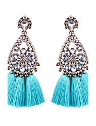 cheap -Women's Tassel Drop Earrings - Flower Bohemian, Boho Light Blue / Light Pink / Royal Blue For Wedding / Party / Graduation