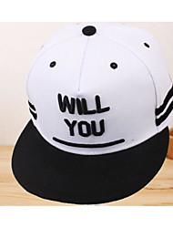 preiswerte -Unisex Hut Moderne Freizeit Frühling/Herbst Polyester Nylon Elasthan Baseball Kappe,Druck Reine Farbe Weiß Schwarz