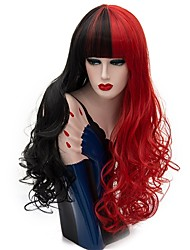 cheap -Synthetic Wig Curly Black Red Women's Capless Carnival Wig Halloween Wig Party Wig Natural Wigs Long Synthetic Hair