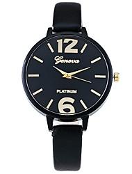 cheap -Women's Unique Creative Watch Wrist watch Skeleton Watch Dress Watch Fashion Watch Casual Watch Chinese Quartz Hot Sale PU Band Candy