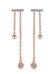 abordables -Femme Boucles d'oreille goutte Diamant synthétique Bohème Naturel Mode Adorable Ajustable Strass Alliage Irrégulier Bijoux Mariage Soirée