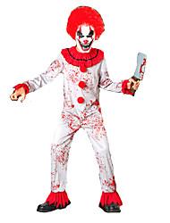 economico -Burlesque Pagliaccio Circo Costumi Cosplay Stile Carnevale di Venezia Bambini Halloween Carnevale Feste / vacanze Costumi Halloween Rosso