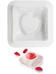 abordables -moules à gâteaux utilisation quotidienne moule de gâteau en forme de coeur de gel de silice, outil de cuisson