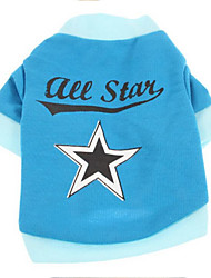 cheap -Dog Shirt / T-Shirt Dog Clothes Stars Plush Fabric Costume For Pets Men's / Women's Casual / Daily