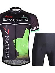 economico -ILPALADINO Maglia con pantaloncini da ciclismo Per uomo Manica corta Bicicletta Set di vestiti Asciugatura rapida Cerniera YKK Pad 3D