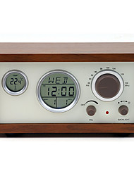 cheap -SY-601 FM Alarm Clock World Receiver Coffee / Brown