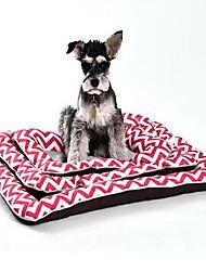 preiswerte -Hund Betten Haustiere Matten & Polster Streifen Weich Waschbar Gelb Blau Rosa Für Haustiere