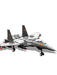 cheap -Toy Cars Building Blocks Toys Plane / Aircraft Fighter Plastics Boys Pieces