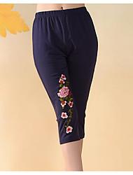 preiswerte -Damen Mittel Druck Bedruckt Legging,Blau Weiß Schwarz