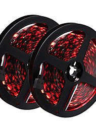 1 PCS HKV® 10M(2*5M) 72W 300 LED 5050 SMD RGB LED Strip Black NO-Waterproof Led Flexible Light Flexible Strip DC 12V
