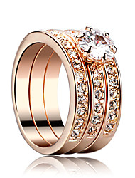 Men's Women's Couple Rings Punk Rock Luxury Metallic Zircon Silver Plated Jewelry For Gift Christmas New Year Valentine