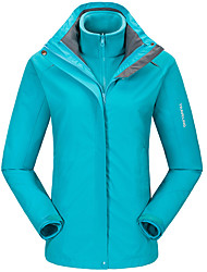 cheap -LEIBINDI Men's Women's Hiking 3-in-1 Jackets Outdoor Winter Keep Warm Thermal / Warm Windproof Breathable Wearproof 3-in-1 Jacket Top