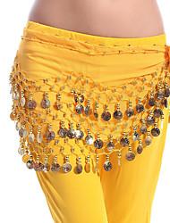 Danza del ventre Cintura per danza del ventre Per donna Esibizione Chiffon Monetine di rame 1 pezzo Cintura