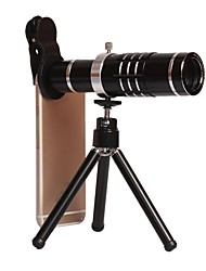 Universal Clip-on Camera Lens Kit for iPhone18X Zoom Telephoto Lens for iPhone/Samsung/HTC and other Smartphones