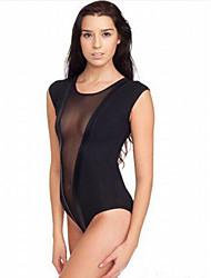abordables -les vêtements de nuit fantaisie pour femmes& loungewear ultra sexy costumes de nuit, sexy solide-mince noir