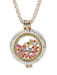 cheap -Women's Crystal Pendant Necklace - Crystal, Imitation Diamond Fashion, Cute, Elegant Gold, Silver Necklace For Daily, Casual, Evening Party
