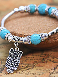 Women's Girls' Strand Bracelet Fashion Personalized Turquoise Alloy Animal Shape Jewelry For Gift Daily