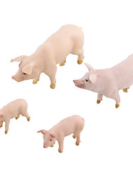 cheap -Animals Action Figures Toys Pig Animals Deer Animals Simulation Silicon Rubber Teen Pieces