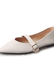 cheap -Women's Flats Light Soles PU Summer Casual Dress Flat Heel Blushing Pink Beige Black Flat