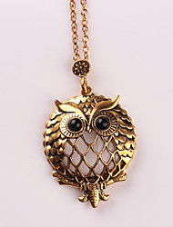 cheap -Women's Owl Pendant Necklace  -  Metallic Animal Design Gold Necklace For Wedding Party Birthday