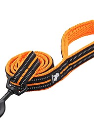cheap -Dog Leash Anti-Slip Reflective Breathable Safety Solid Polyester Nylon Black Orange Yellow Fuchsia Blue