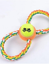 Собака Игрушка для собак Игрушки для животных Жевательные игрушки Мячи для тенниса Хлопок Для домашних животных