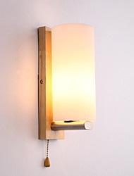 cheap -5 E27 Simple LED Novelty Country Feature for LED Mini Style Eye Protection Ambient Light Wall Sconces Wall Light Log Wood Bedroom Bedside Lamp